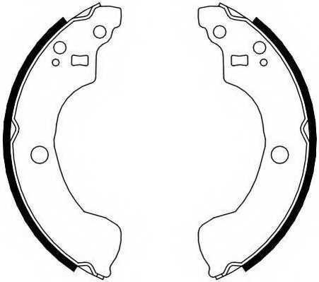Комплект тормозных колодок FERODO FSB4106 - изображение