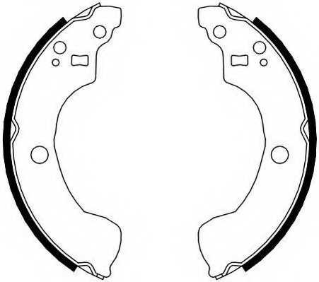 Комплект тормозных колодок задний для NISSAN ALMERA(N16), PRIMERA(P11) <b>FERODO FSB4106</b> - изображение