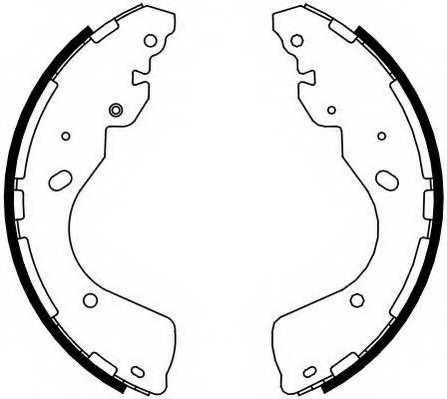 Комплект тормозных колодок задний для FORD RANGER(TKE) / NISSAN NAVARA(D40) <b>FERODO FSB4108</b> - изображение
