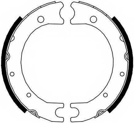 Комплект колодок стояночной тормозной системы FERODO FSB4119 - изображение