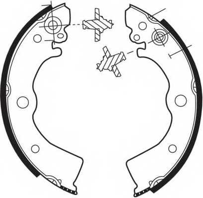Комплект тормозных колодок задний для NISSAN 100 NX(B13), ALMERA(N15), PULSAR(N14), SUNNY(N13,N14) <b>FERODO FSB412</b> - изображение