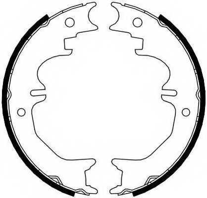 Комплект колодок стояночной тормозной системы FERODO FSB4120 - изображение