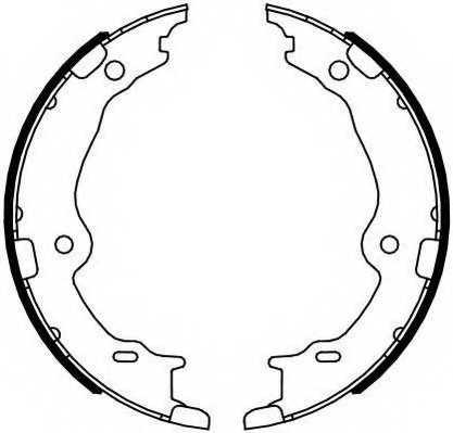 Комплект колодок стояночной тормозной системы FERODO FSB4123 - изображение