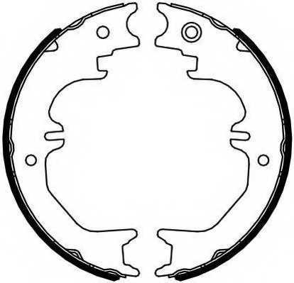 Комплект колодок стояночной тормозной системы FERODO FSB4125 - изображение