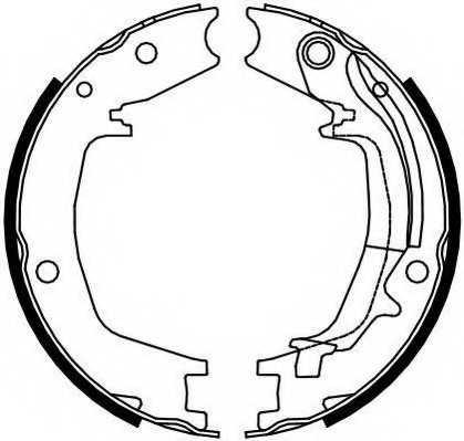 Комплект колодок стояночной тормозной системы FERODO FSB4131 - изображение