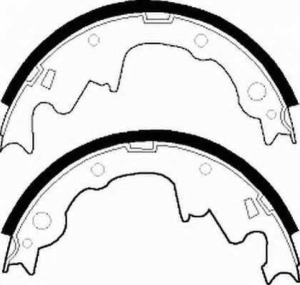 Комплект тормозных колодок задний для CHRYSLER VOYAGER(ES) / JEEP CHEROKEE(XJ), WRANGLER(SJ#,TJ,YJ) <b>FERODO FSB466</b> - изображение 1