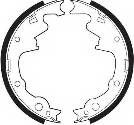 Комплект тормозных колодок задний для CHRYSLER VOYAGER(ES) / JEEP CHEROKEE(XJ), WRANGLER(SJ#,TJ,YJ) <b>FERODO FSB466</b> - изображение