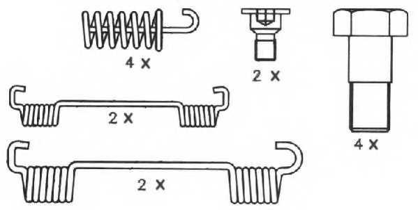 Комплект колодок стояночной тормозной системы FERODO FSB539 - изображение 2