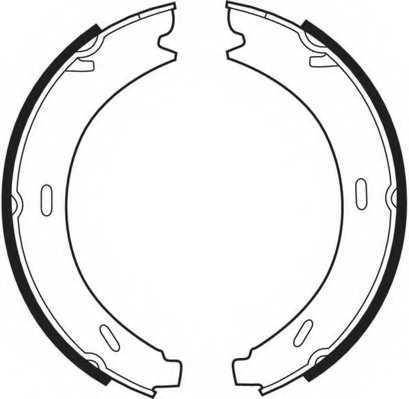 Комплект колодок стояночной тормозной системы FERODO FSB539 - изображение