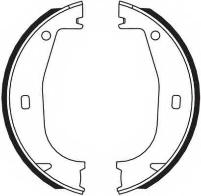 Комплект колодок стояночной тормозной системы FERODO FSB546 - изображение