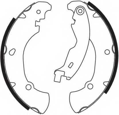 Комплект тормозных колодок задний для FIAT BRAVA(182), BRAVO(182), MAREA(185) <b>FERODO FSB555</b> - изображение