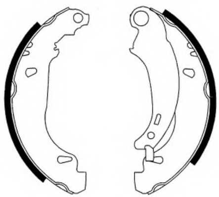 Комплект тормозных колодок задний для PEUGEOT 206(2A/C,2E/K,T3E) <b>FERODO FSB576</b> - изображение