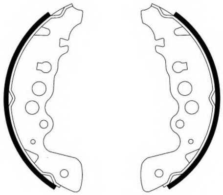 Комплект тормозных колодок задний для SUZUKI GRAND VITARA(FT,GT,JT) <b>FERODO FSB578</b> - изображение