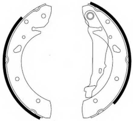 Комплект тормозных колодок задний для TOYOTA AVENSIS(#T22#) <b>FERODO FSB581</b> - изображение