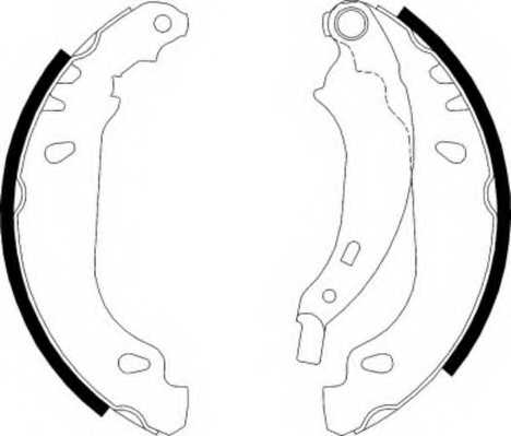 Комплект тормозных колодок задний для RENAULT CLIO(BB0/1/2#, CB0/1/2#, SB0/1/2#), LOGAN(LS#), SANDERO/STEPWAY, THALIA(LB0/1/2#) <b>FERODO FSB584</b> - изображение