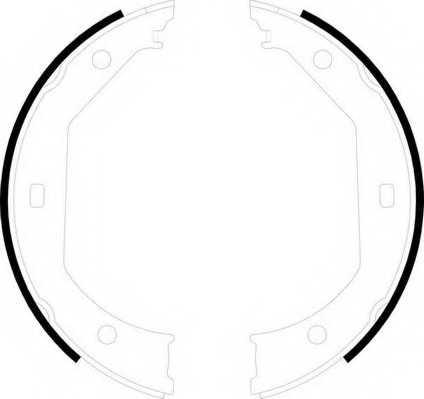 Комплект колодок стояночной тормозной системы FERODO FSB585 - изображение