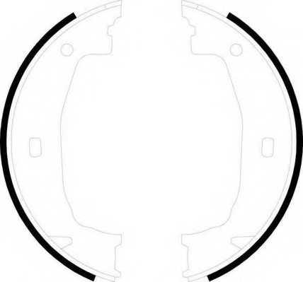 Комплект колодок стояночной тормозной системы FERODO FSB592 - изображение