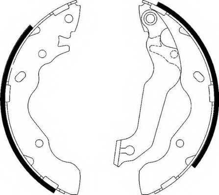 Комплект тормозных колодок задний для HYUNDAI COUPE(RD), ELANTRA(XD), LANTRA(J-2), MATRIX(FC) <b>FERODO FSB607</b> - изображение