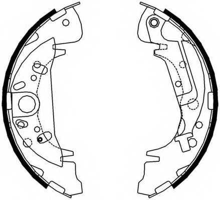 Комплект тормозных колодок FERODO FSB608 - изображение