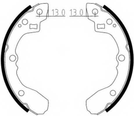 Комплект тормозных колодок задний для KIA RIO(DC,DC#) <b>FERODO FSB612</b> - изображение