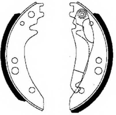 Комплект тормозных колодок задний для MERCEDES T1(601) <b>FERODO FSB615</b> - изображение