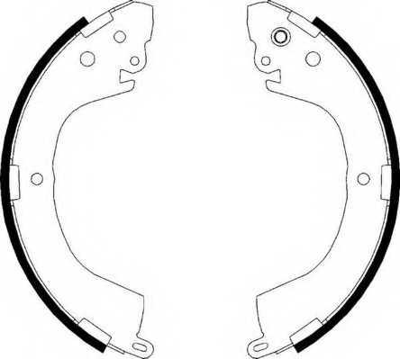 Комплект тормозных колодок задний для MITSUBISHI L 200(K6#T, K7#T), L 400 / SPACE GEAR(PA#V, PA#W, PB#V, PC#W, PD#W), L 400(PA#V, PA#W, PB#V, PC#W, PD#W) <b>FERODO FSB617</b> - изображение
