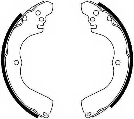 Комплект тормозных колодок задний для MITSUBISHI GRANDIS, OUTLANDER, PAJERO PININ, SPACE RUNNER, SPACE <b>FERODO FSB638</b> - изображение