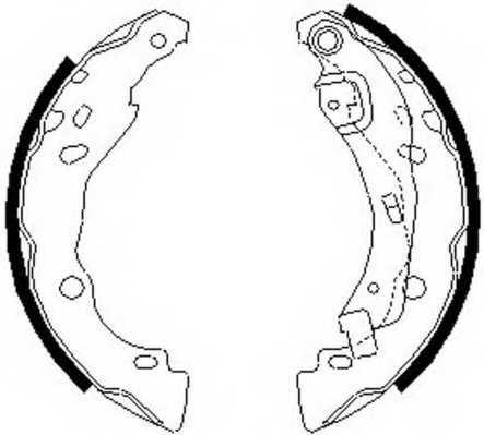 Комплект тормозных колодок задний для RENAULT 17, CLIO(BB0/1/2#, BR0/1, CB0/1/2#, CR0/1, SB0/1/2#), LOGAN(LS#), SANDERO/STEPWAY, THALIA(LB0/1/2#, LU1/2#) <b>FERODO FSB642</b> - изображение