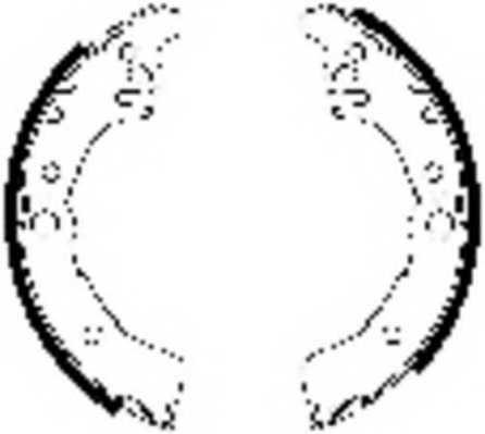 Комплект тормозных колодок задний для TOYOTA YARIS(NCP1#,NLP1#,SCP1#) <b>FERODO FSB644</b> - изображение