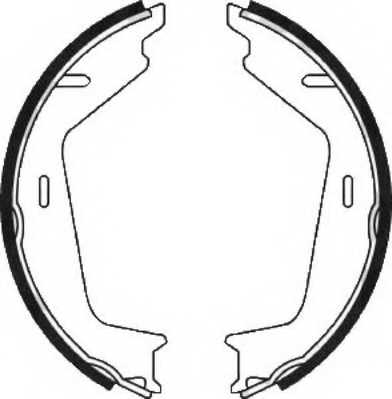 Комплект колодок стояночной тормозной системы FERODO FSB645 - изображение