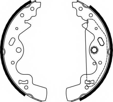 Комплект тормозных колодок FERODO FSB651 - изображение
