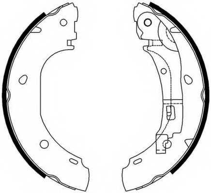 Комплект тормозных колодок задний для CITROEN JUMPER(244,Z#) / FIAT DUCATO(244,Z#) / PEUGEOT BOXER(244,Z#,ZCT#) <b>FERODO FSB652</b> - изображение
