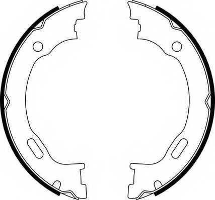 Комплект колодок стояночной тормозной системы FERODO FSB662 - изображение
