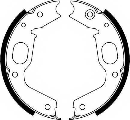 Комплект колодок стояночной тормозной системы FERODO FSB663 - изображение