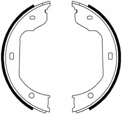 Комплект колодок стояночной тормозной системы FERODO FSB668 - изображение