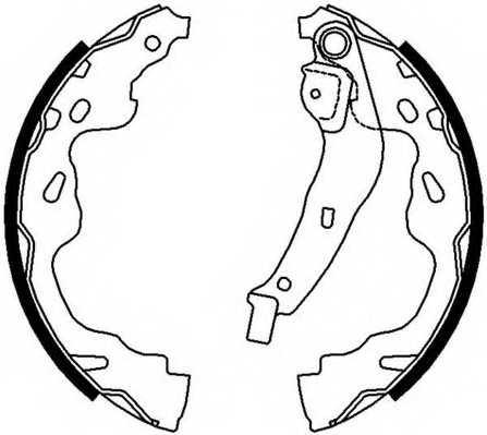Комплект тормозных колодок задний для CITROEN C1 / OPEL AGILA / PEUGEOT 107, 108 / SUZUKI SPLASH, SWIFT / TOYOTA AYGO, YARIS <b>FERODO FSB672</b> - изображение