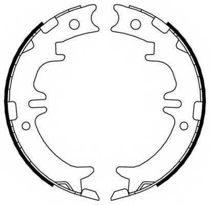 Комплект колодок стояночной тормозной системы FERODO FSB674 - изображение