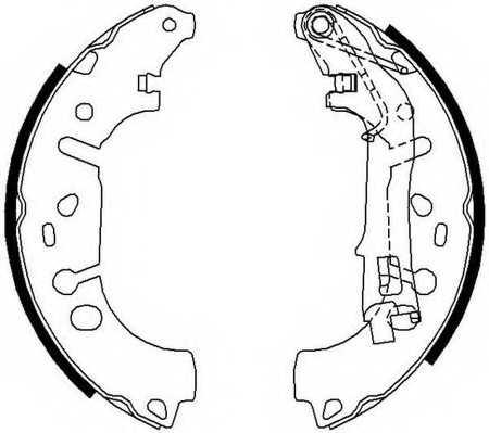 Комплект тормозных колодок задний для FIAT FIORINO(225), LINEA(323), PUNTO(199), QUBO(225) / OPEL ADAM, CORSA <b>FERODO FSB682</b> - изображение