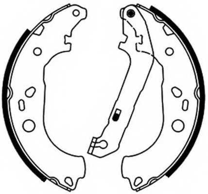 Комплект тормозных колодок задний для FORD FOCUS(DA#) <b>FERODO FSB687</b> - изображение