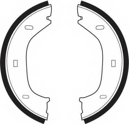 Комплект колодок стояночной тормозной системы FERODO FSB92 - изображение