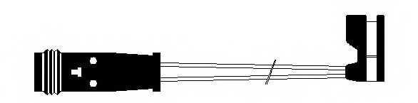 Сигнализатор износа тормозных колодок FERODO FWI296 - изображение