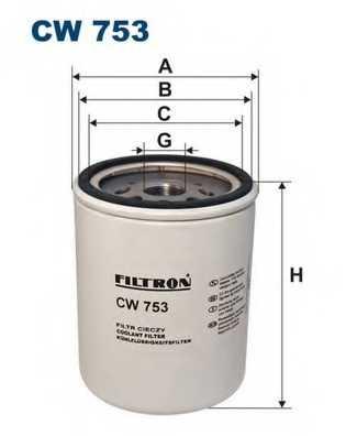 Фильтр для охлаждающей жидкости FILTRON CW753 - изображение