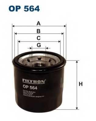 Фильтр масляный FILTRON OP564 - изображение
