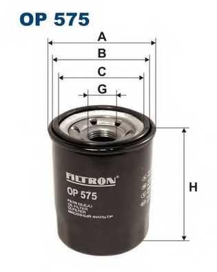 Фильтр масляный FILTRON OP575 - изображение