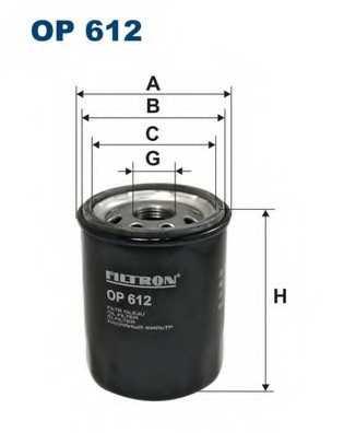 FILTRON OP612 - фильтрмасляный - изображение