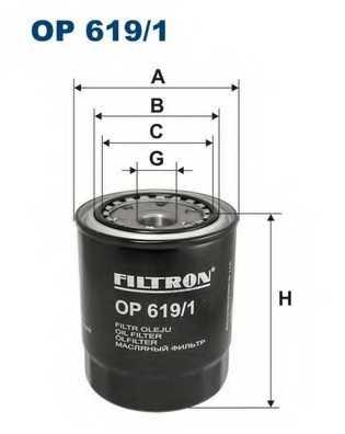 FILTRON OP619/1 - фильтрмасляный - изображение