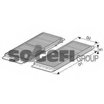 Фильтр салонный FRAM CF10824-2 - изображение 1