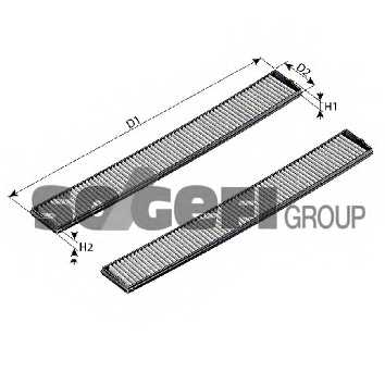 Фильтр салонный FRAM CF10933-2 - изображение 1