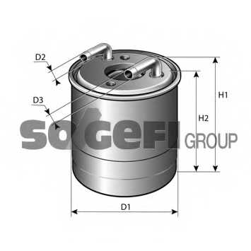 Фильтр топливный FRAM P11044 - изображение 1