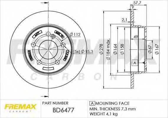 Тормозной диск FREMAX BD-6477 - изображение